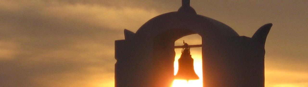 Sunset through Bell Tower